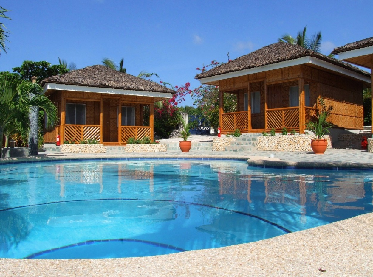 Philippines, Moalboal Magic Island, Dive Resort, Cottages, Pool, image,