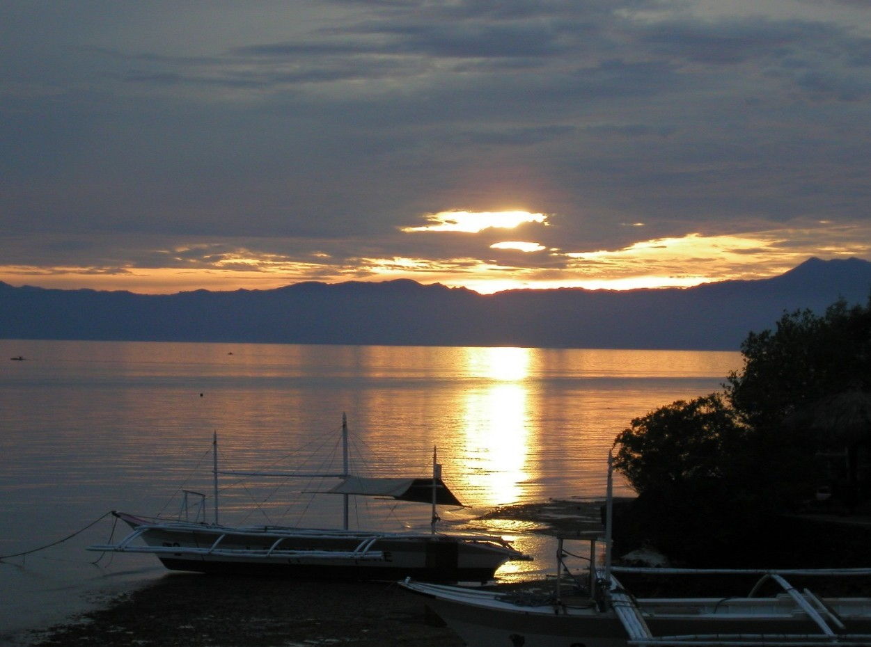 Philippines, Moalboal Magic Island, Dive Resort, Cottages, Sunset, image,