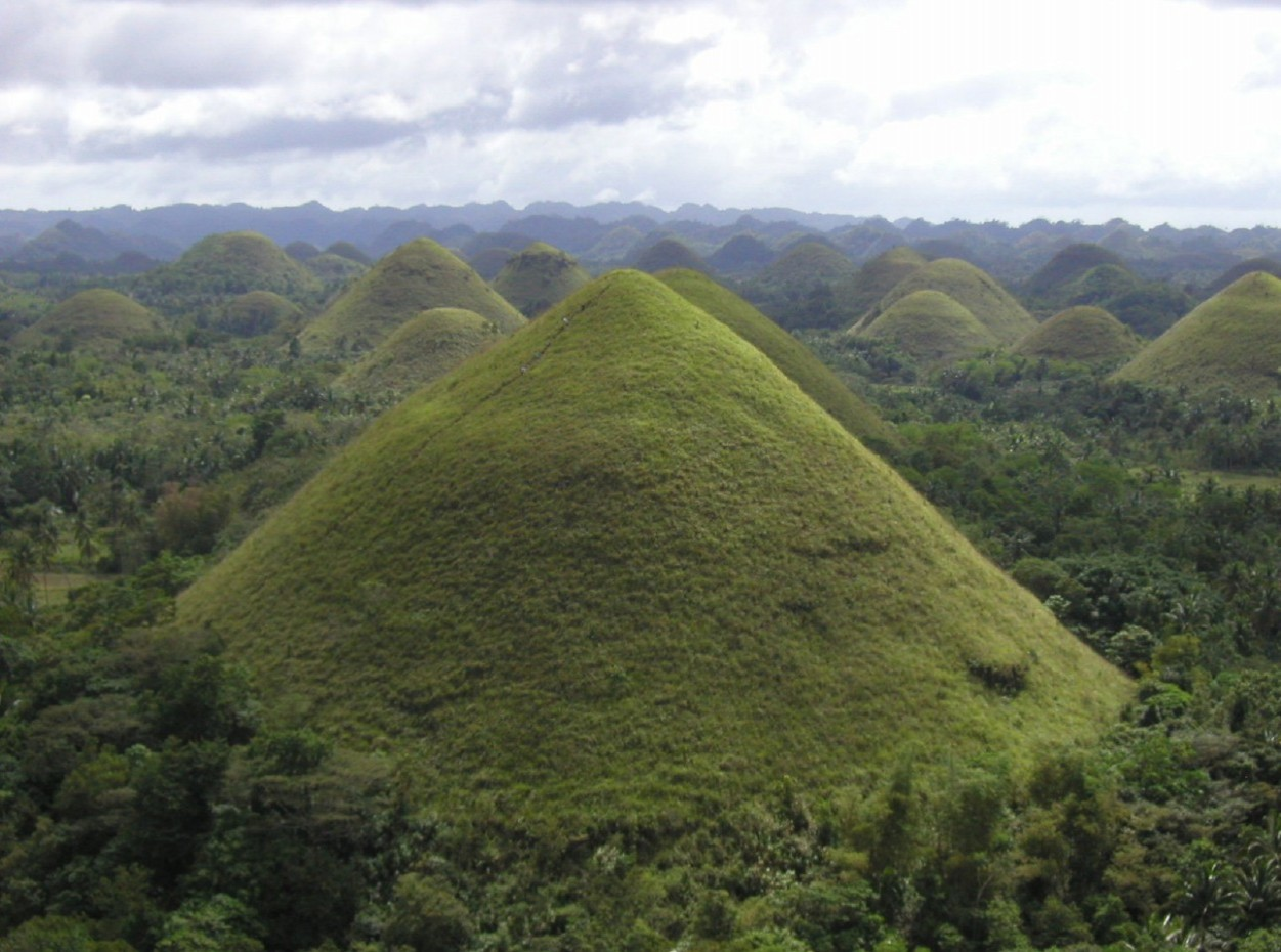 Philippines, Bohol, Magic Oceans Dive Resort, Arial View, Mounds, image