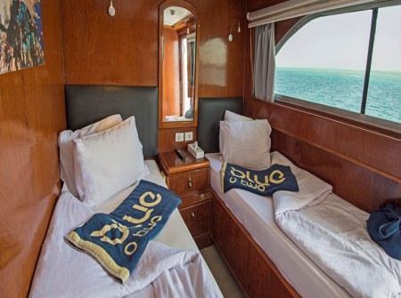 M/Y blue Fin twin room with sea view