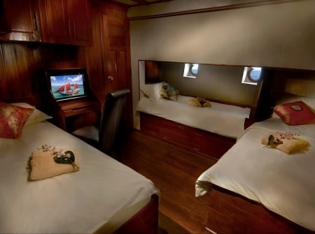 The Phinisi, cabin 7, Thailand liveaboard