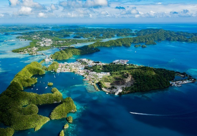 Aerial view of palau, resorts page, image,