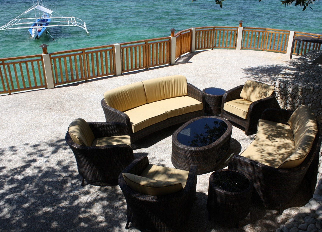 Philippines, Moalboal Magic Island, Dive Resort, Cottages, Seating, image